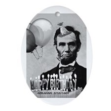 Lincoln's Birthday Oval Ornament