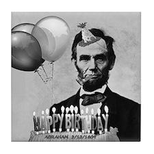 Lincoln's Birthday Tile Coaster