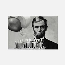 Lincoln's Birthday Rectangle Magnet