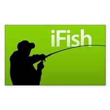 iFish Rectangle Decal