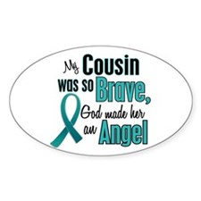 Angel 1 TEAL (Cousin) Oval Decal