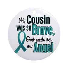 Angel 1 TEAL (Cousin) Ornament (Round)