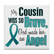 Angel 1 TEAL (Cousin) Tile Coaster