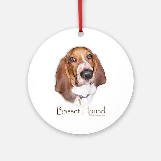 Basset Hound Design Ornament (Round)