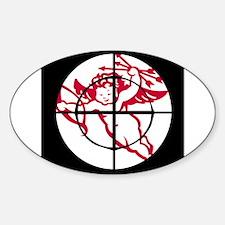 kill cupid /1 Oval Decal