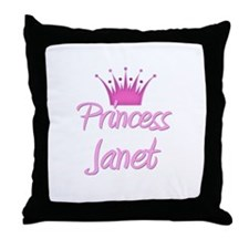 Princess Janet Throw Pillow