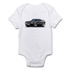 1970 Cuda Black Car Infant Bodysuit