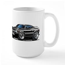 1970 Cuda Black Car Mug