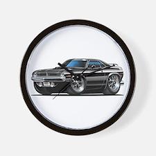 1970 Cuda Black Car Wall Clock