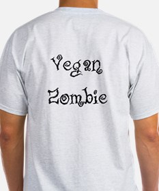 Scratchy Vegan Zombie Double-printed T-Shirt
