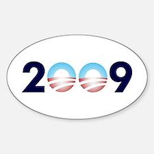 2009 Barack Obama Logo Oval Decal