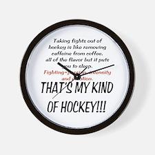 Fighting in Hockey Wall Clock