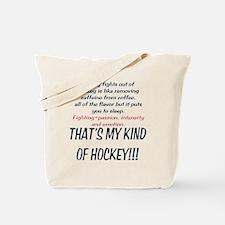 Fighting in Hockey Tote Bag