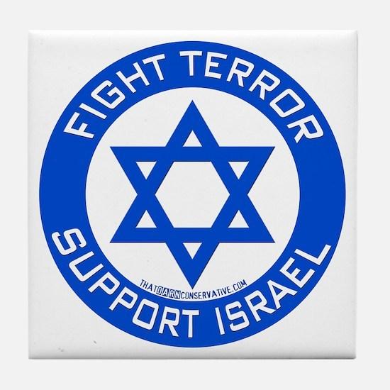I Support Israel Tile Coaster