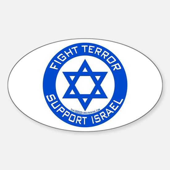 I Support Israel Oval Decal