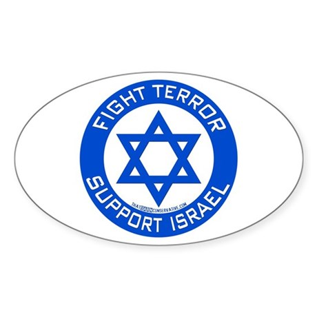 I Support Israel Oval Sticker