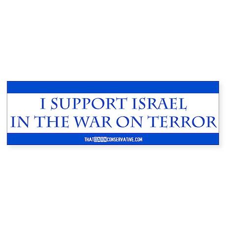 I Support Israel Bumper Sticker