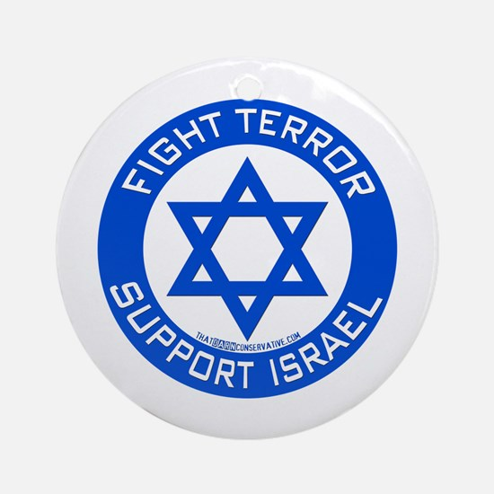 I Support Israel Ornament (Round)