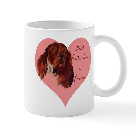 irish setter heart Mug