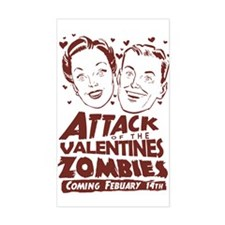 Valentines Zombies Rectangle Bumper Stickers