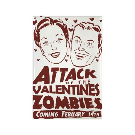 Valentines Zombies Rectangle Magnet (10 pack)
