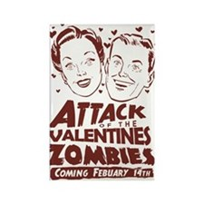 Valentines Zombies Rectangle Magnet