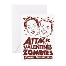 Valentines Zombies Greeting Cards (Pk of 10)
