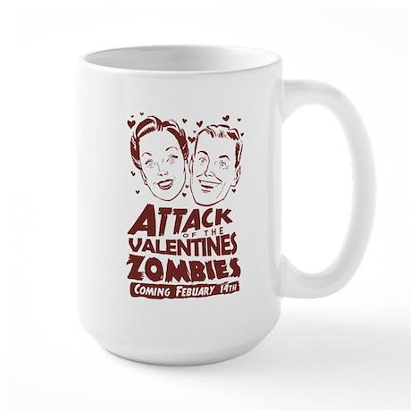 Valentines Zombies Large Mug