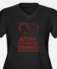 Valentines Zombies Women's Plus Size V-Neck Dark T