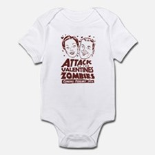 Valentines Zombies Infant Bodysuit