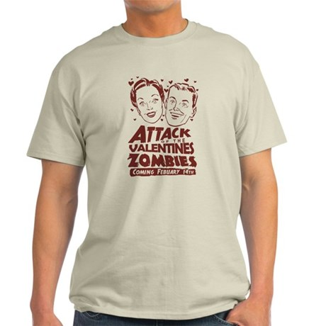 Valentines Zombies Light T-Shirt