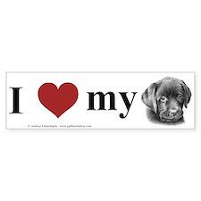 Labrador Puppy Bumper Bumper Sticker
