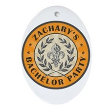 Zachary's Bachelor Party Oval Ornament