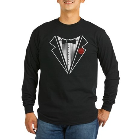 Tuxedo Long Sleeve Dark T-Shirt