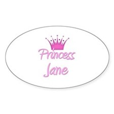 Princess Jane Oval Decal