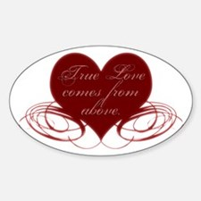 Christian Valentine's Day Oval Decal