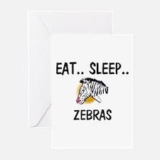 Eat ... Sleep ... ZEBRAS Greeting Cards (Pk of 10)