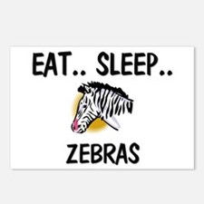 Eat ... Sleep ... ZEBRAS Postcards (Package of 8)