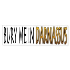 Bury Me In Darnassus Bumper Bumper Sticker