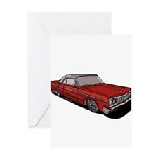 1964 Chevy Impala Lowrider Ra Greeting Card