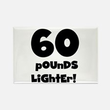60 Pounds Lighter Rectangle Magnet