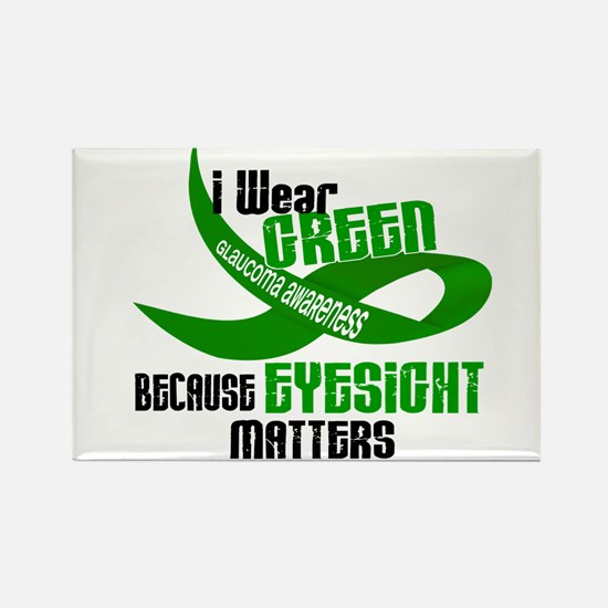 I Wear Green 33 (Eyesite Matters) Rectangle Magnet