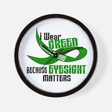 I Wear Green 33 (Eyesite Matters) Wall Clock