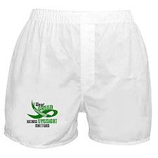 I Wear Green 33 (Eyesite Matters) Boxer Shorts