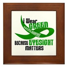 I Wear Green 33 (Eyesite Matters) Framed Tile
