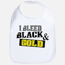Bleed Black and Gold Bib