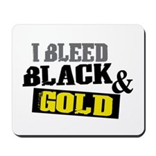 Bleed Black and Gold Mousepad