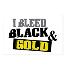 Bleed Black and Gold Postcards (Package of 8)
