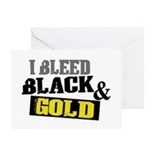 Bleed Black and Gold Greeting Card