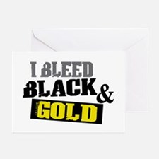 Bleed Black and Gold Greeting Cards (Pk of 20)